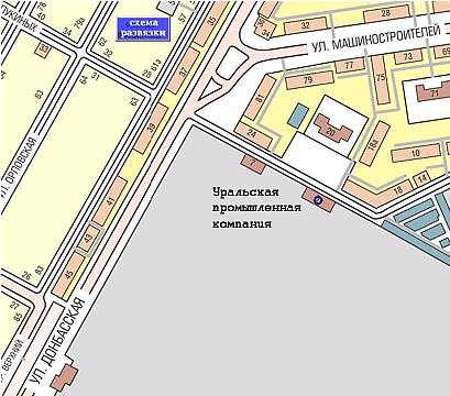 Город: Екатеринбург.  Схема проезда.